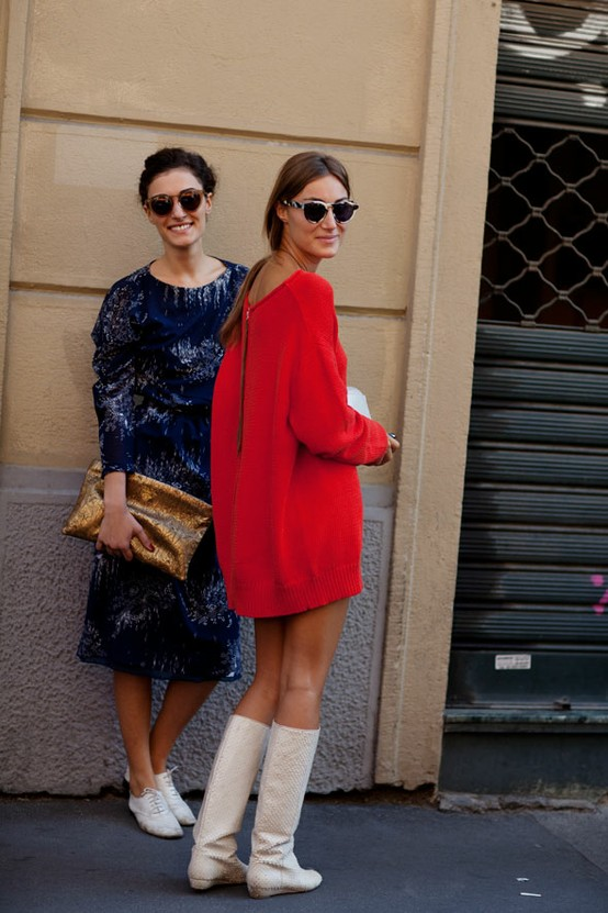 thesartorialist RED DRESS