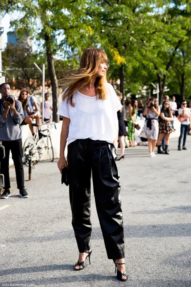CAROLINE_DE_MAIGRET-LEATHER_TROUSERS-BLACK_AND_WHITE-NYFW-SPRING_SUMMER_2014-